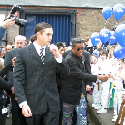 Matt Fiddes and Jermaine Jackson visit Swindon