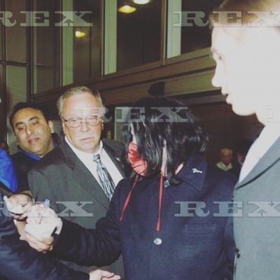Matt Fiddes arriving at Heathrow with Michael Jackson