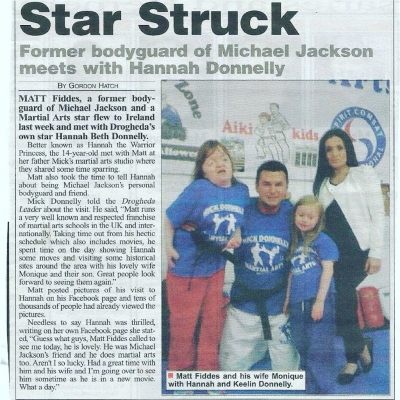 Matt Fiddes in Ireland