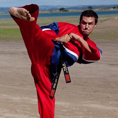 Matt Fiddes in action