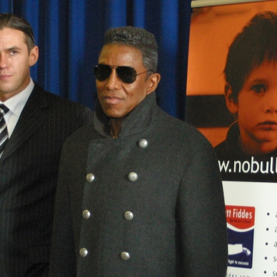 Matt Fiddes school talk with Jermaine Jackson