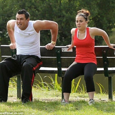 Matt Fiddes training Dani Harmer