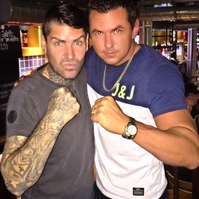 Matt Fiddes with Boyzones Shane Lynch