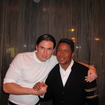 Matt Fiddes with Jermaine Jackson