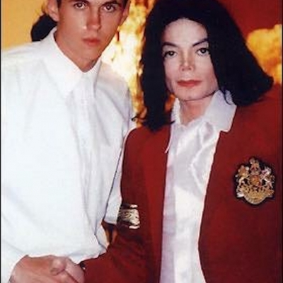 Matt Fiddes with Popstar friend Michael Jackson