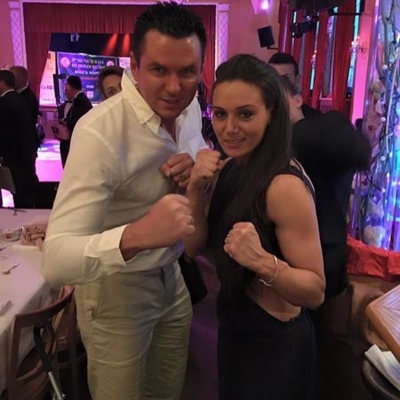 Matt Fiddes with Zara Phythian