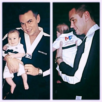 Matt Fiddes with baby Zack Fiddes
