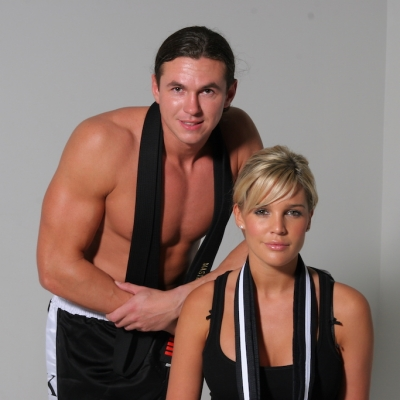 Matt Fiddes with model and TV Star Danielle Lloyd