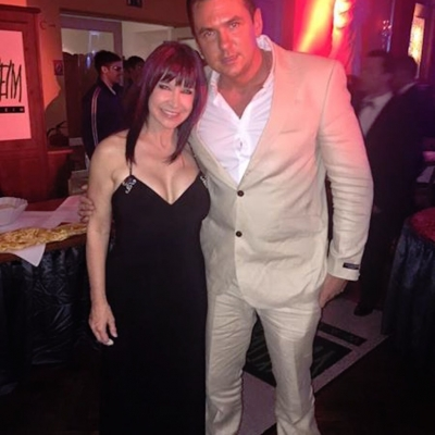 Matt Fiddes with movie star Cynthia Rothrock