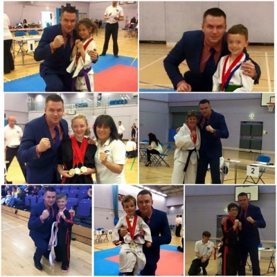 matt fiddes with students